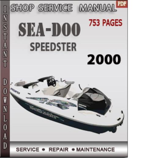 Seadoo Speedster 2000 Shop Service Repair Manual Download
