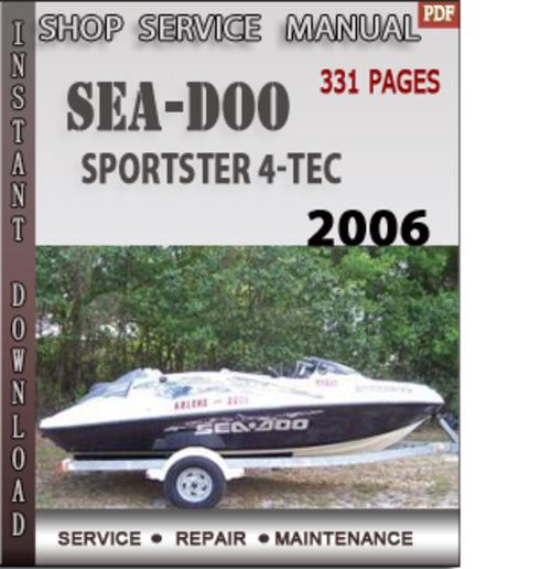 seadoo sportster 2006 repair manual how to and user guide rh taxibermuda co 2009 Sea-Doo Jet Pump 2010 sea doo rxt 260 service manual