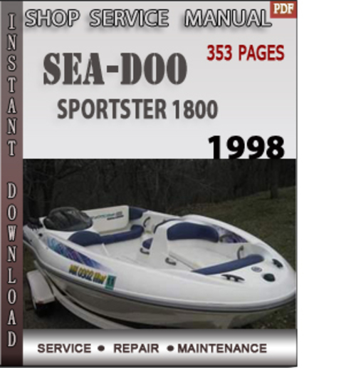 seadoo sportster 1800 1998 shop service repair manual downlo down 2003 Sea-Doo Bombardier GTI 2003 seadoo sportster owners manual