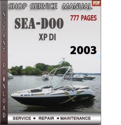 Seadoo Xp Di 2003 Shop Service Repair Manual Download