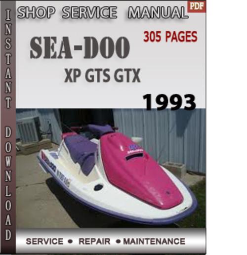 93 seadoo gtx manual how to and user guide instructions u2022 rh taxibermuda co 1995 Seadoo XP 1995 Seadoo Bombardier