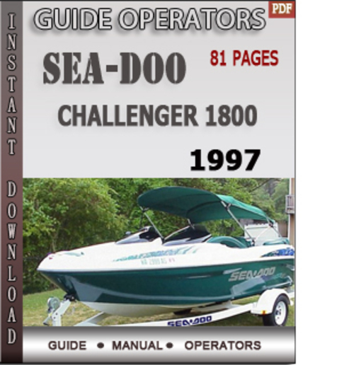 seadoo challenger 1800 1997 operators guide manual download downl rh tradebit com 1997 seadoo challenger owners manual 1997 seadoo challenger 1800 owners manual