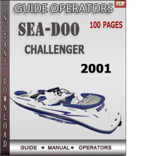 2001 seadoo challenger repair manual
