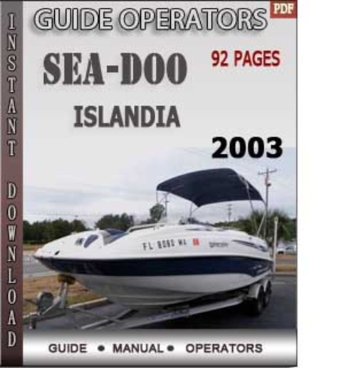 2003 seadoo Rxdi Manual
