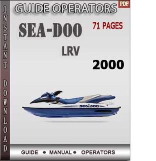 Operators Manual For 1996 seadoo