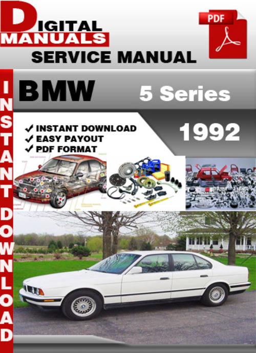 BMW       5       Series    1992 Factory    Service       Repair    Manual  Download