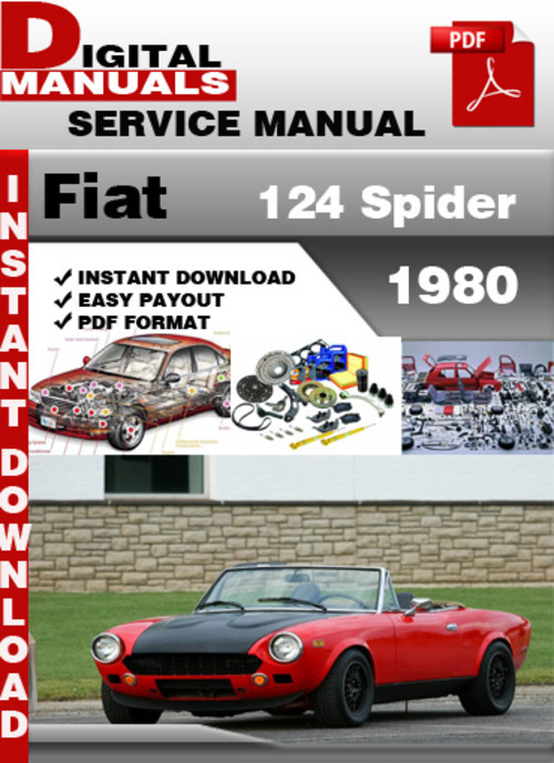 fiat 124 spider 1980 factory service repair manual. Black Bedroom Furniture Sets. Home Design Ideas