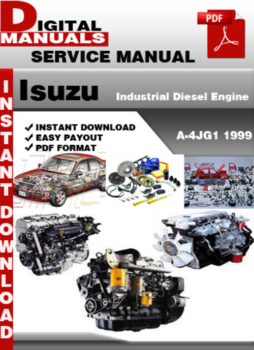 Pay for Isuzu Industrial Diesel Engine A-4JG1 1999 Factory Service R