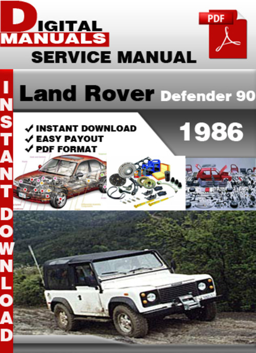 land rover defender 90 1986 factory service repair manual downlo 1997 land rover defender 90 owners manual Land Rover Defender 130