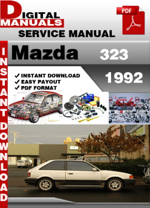 mazda 323 1992 factory service repair manual download manuals am rh tradebit com Mazda 323 Mazda 121