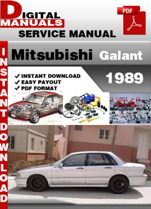 Pay for Mitsubishi Galant 1989 Factory Service Repair Manual