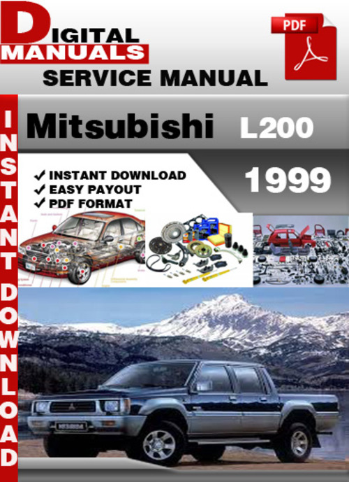 mitsubishi l200 1999 factory service repair manual L200 Sportero Saturn L200
