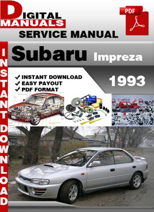 subaru impreza 1993 factory service repair manual download manual rh tradebit com Subaru Crosstrek Subaru Crosstrek