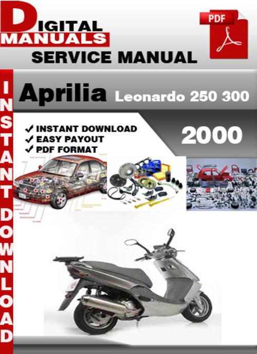 aprilia leonardo 250 300 2000 factory service repair. Black Bedroom Furniture Sets. Home Design Ideas