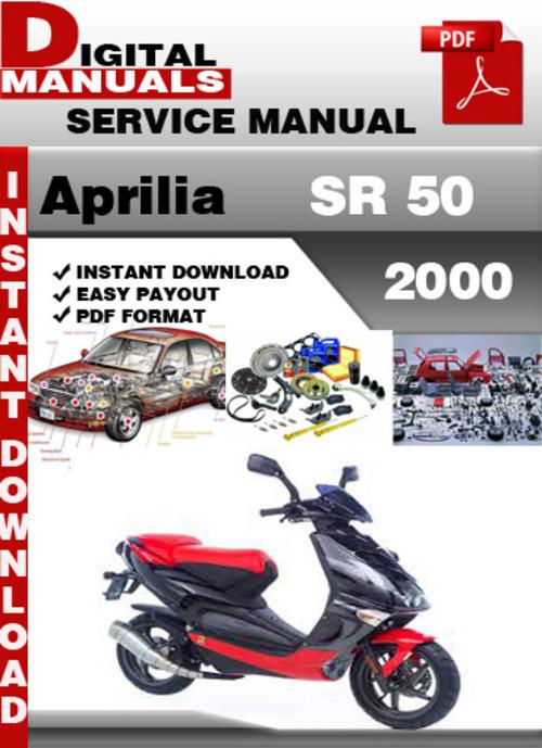 aprilia sr 50 2000 factory service repair manual