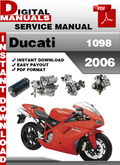 ducati 1098 2006 factory service repair manual download. Black Bedroom Furniture Sets. Home Design Ideas