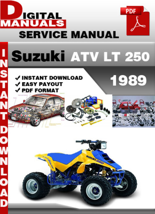 suzuki atv lt 250 1989 factory service repair manual pdf download rh tradebit com