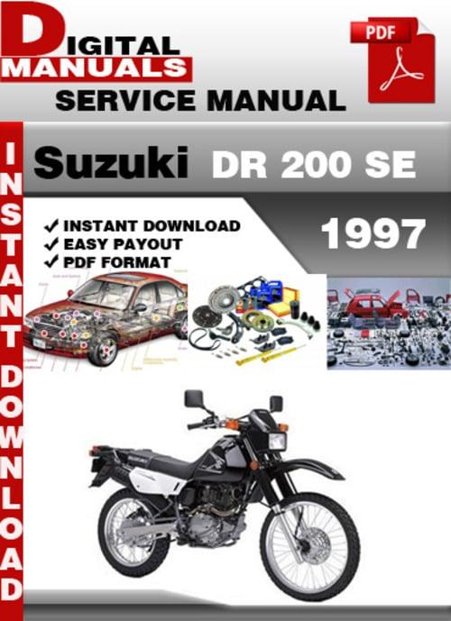 suzuki dr 200 se 1997 factory service repair manual pdf download suzuki dr 200 service manual download 1986 suzuki dr 200 service manual