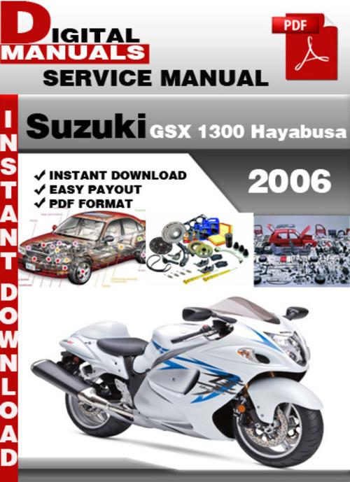 Free Suzuki GSX 1300 Hayabusa 2006 Factory Service Repair Manual  Download thumbnail