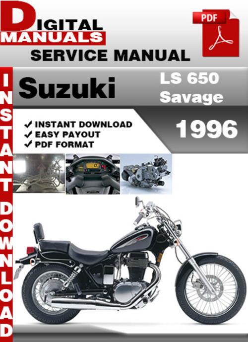 suzuki ls 650 savage 1996 factory service repair manual pdf downl rh tradebit com Suzuki Savage Custom Bars 1996 suzuki savage 650 service manual