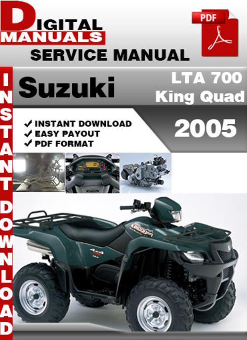 suzuki lta 700 king quad 2005 factory service repair manual down rh tradebit com suzuki kingquad 700 service manual suzuki king quad 700 manual free