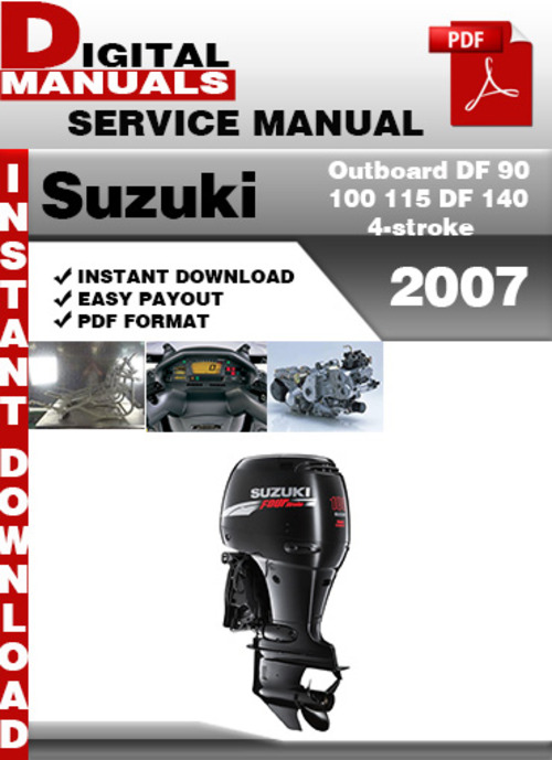Suzuki DF90 DF100 DF115 DF140 Outboard Motor Service Repair Manual CD  DF 90 100