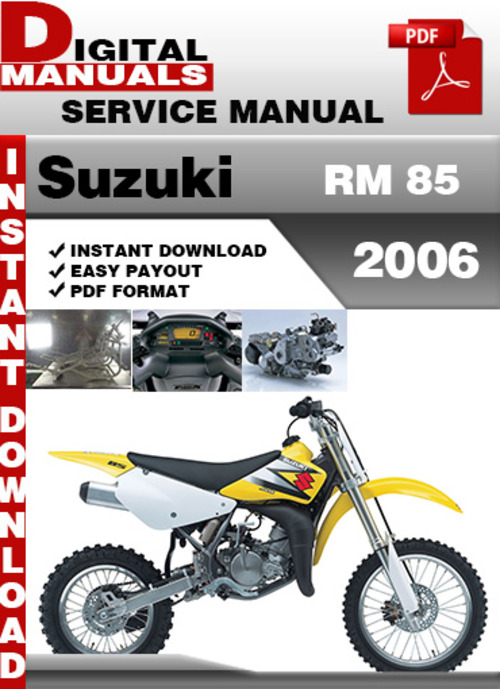 suzuki rm 85 2006 factory service repair manual pdf. Black Bedroom Furniture Sets. Home Design Ideas