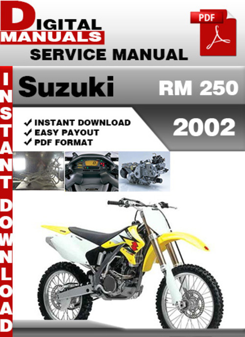 suzuki rm 250 2002 factory service repair manual pdf download man rh tradebit com 1980 Suzuki GS 250 T Repair Manual 1985 Suzuki ATV