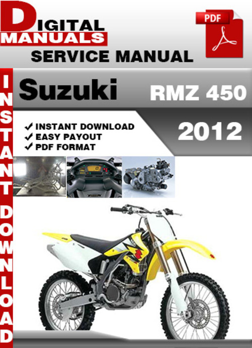 suzuki rmz 450 2012 factory service repair manual pdf download ma rh tradebit com 2001 Suzuki RM 250 Manual 2004 suzuki rmz 250 service manual download