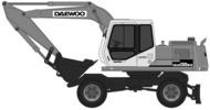 Thumbnail Daewoo Doosan Solar 130W-V Excavator Operation Owner Maintenance Service Manual # 1 Download