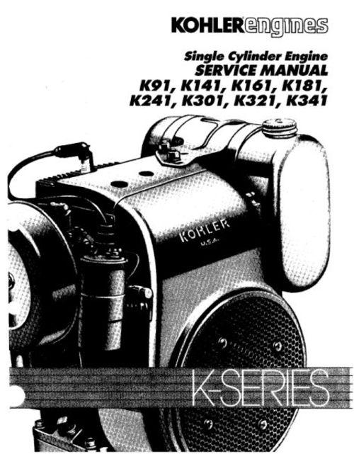 Kohler K91 K141 K161 K181 K241 K301 K321 K341 Single Cylinder Engine on yardman lawn mower wiring diagram, kohler ignition control panel, kohler starter diagram, kubota tractor radio wiring diagram, cv12.5s diagram, ignition switch diagram, briggs and stratton 18 hp wiring diagram, kubota starter wiring diagram, cub cadet wiring diagram, kohler command 25 hp diagram, pto wiring diagram, kohler marine generator 5ecd, john deere delphi radio wiring diagram, john deere mower wiring diagram, kohler k301 wiring diagrams, john deere 110 wiring diagram, scag mower wiring diagram, kohler fuel pump diagram, kohler not charging, case 446 tractor wiring diagram,
