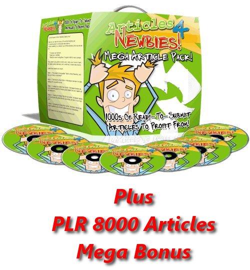Pay for Articles 4 Newbies Course MRR + PLR 8000 Articles MegaBonus