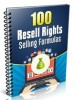 Thumbnail 100 Resell Rights Selling Formulas