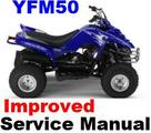 YAMAHA ATV  1989 - 2007 YFA1 YFM 125 BREEZE REPAIR MANUAL +IMPROVED
