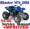 Thumbnail YAMAHA ATV BLASTER YFS 200 1988-2006 FACTORY REPAIR MANUALS -IMPROVED-