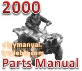 Thumbnail Arctic Cat 2000 300 2X4 RED A2000ATF2AUSR [Parts Manual]