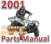 Thumbnail Arctic Cat 2001 400 4X4 RED A2001ATI4AUSR ATV 400 500 CC [Parts Manual]