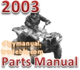 Thumbnail Arctic Cat 2003 ATV 400 FIS AUTOMATIC TRANSMISSION 4X4 RED [Parts Manual]