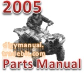 Thumbnail Arctic Cat 2005 ATV 500 MANUAL TRANSMISSION 4X4 FIS CAT GREEN [Parts Manual]