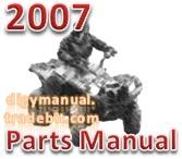 Thumbnail Arctic Cat 2007 ATV 700 AUTOMATIC TRANSMISSION 4X4 DIESEL GREEN [Parts Manual]