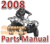 Thumbnail Arctic Cat 2008 ATV THUNDERCAT AUTOMATIC TRANSMISSION 4X4 SILVER  [Parts Manual]