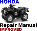 HONDA ATV 2005 - 2008 TRX500 RUBICON REPAIR MANUAL +IMPROVED