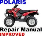 POLARIS ATV 2008 SPORTSMAN 300  400 H.O Repair Manual +Impr