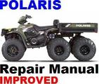 POLARIS ATV 2004-2006 SPORTSMAN 500  6x6  Repair Manual +I