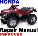 HONDA ATV 2006 TRX680 RINCON  REPAIR MANUAL [IMPROVED]