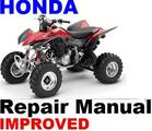 HONDA ATV 1999-2002 TRX400EX Fourtra REPAIR MANUAL +IMPROVED