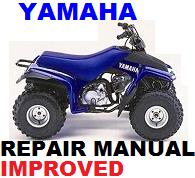 Thumbnail YAMAHA ATV  1992 - 2002 2005 YFM 80 (D)(M)(C) BREEZE REPAIR MANUAL +IMPROVED