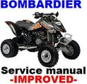BOMBARDIER 2005 -2007 ATV DS650 REPAIR MANUAL + IMPROVED