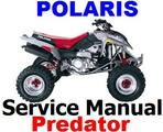 Thumbnail POLARIS PREDATOR 500 SERVICE REPAIR MANUAL 2003 + PARTS catalogue + IMPROVED