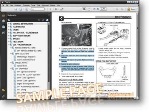 Polaris Atv 2004 Sportsman 90 Predator 50  90 Repair Manual